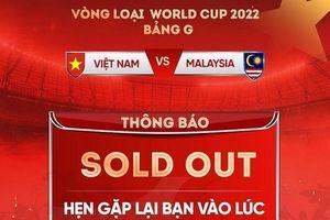 Vé trận đấu Việt Nam và Malaysia đã hết chỉ trong 3 đợt mở bán