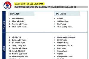 Danh sách U22 Việt Nam đấu U22 UAE: Martin Lo trở lại