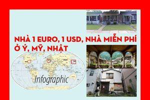 Nhà 1 Euro, 1 USD, nhà miễn phí ở Ý, Mỹ, Nhật