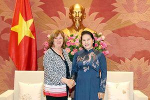 Chủ tịch Quốc hội Nguyễn Thị Kim Ngân tiếp Chủ tịch Nhóm Nghị sĩ hữu nghị Pháp - Việt