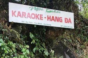 Cư dân mạng quan tâm: Karaoke mở trong hang đá?