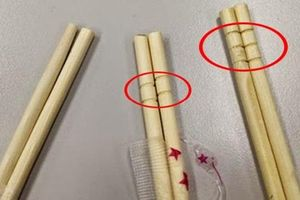 Bạn đã bao giờ thắc mắc vì sao đũa ăn 1 lần luôn khắc vòng tròn ở trên?