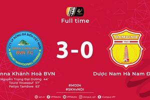 Thắng đậm Nam Định, Khánh Hòa khiến cuộc đua trụ hạng khôn lường