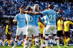 Lập kỷ lục ghi 5 bàn trong 18 phút, Man City đè bẹp Watford 8-0