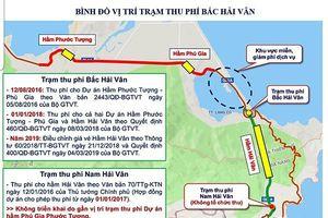 Điều chỉnh mức thu phí qua hầm đường bộ Hải Vân tại trạm Bắc Hải Vân từ ngày 27/9