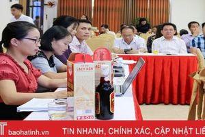 Hội đồng cấp tỉnh Hà Tĩnh đánh giá, phân hạng sản phẩm OCOP đợt 1 năm 2019