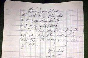 Bé trai 1 tuổi khôi ngô bị bỏ rơi ở chùa với lời nhắn 'tôi không vấn vương gì hết'