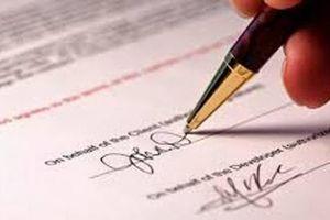 Hợp đồng được xác lập thông qua đại diện theo pháp luật