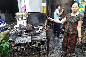 Đồ điện của dân bị chập cháy lúc rạng sáng