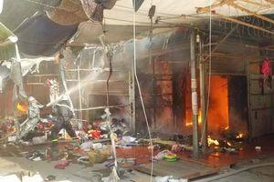 Hà Nội: Cháy lớn tại chợ Tó, huyện Đông Anh