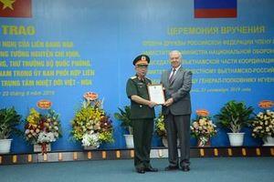 Liên bang Nga tặng Thượng tướng Nguyễn Chí Vịnh Huân chương Hữu nghị