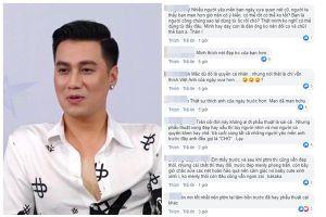 Việt Anh bị khán giả mắng 'vô học' vì dám dùng từ CHÓ khi nói về những người chê mình xấu