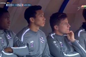 Văn Hậu phải làm 'khán giả' nhìn SC Heerenveen vất vả cầm hòa 1-1 Utrecht