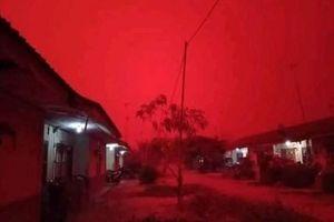 Kinh ngạc: Bầu trời Indonesia đỏ rực do cháy rừng