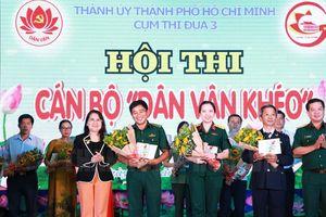 Hội thi cán bộ 'Dân vận khéo' năm 2019: Đảng ủy Bộ Tư lệnh TPHCM đoạt giải nhất