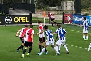 Văn Hậu lần đầu đá chính ở đội trẻ SC Heerenveen