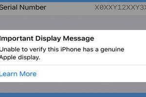 Sau pin, Apple ngăn người dùng thay thế màn hình không chính hãng