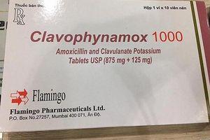 Hà Nội: Thu hồi thuốc Clavophynamox 1000 không đạt tiêu chuẩn chất lượng
