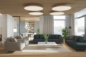 Căn hộ chung cư đẹp mỹ mãn nhờ nội thất gỗ biến tấu
