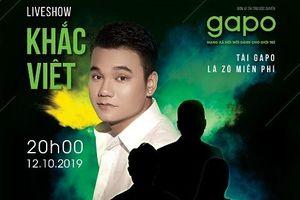 Khắc Việt làm liveshow miễn phí cho sinh viên nhân kỷ niệm 10 năm ca hát