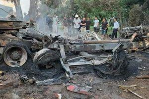 Hải Dương: Tránh xe mất lái, tài xế chết cháy trong cabin