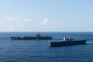 Báo Nhật Bản: Tàu sân bay Mỹ đang hoạt động ở Biển Đông