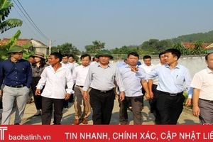 Đoàn công tác Trung ương thẩm định, xét công nhận huyện NTM tại Can Lộc