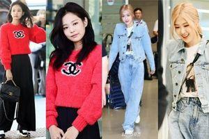 Màn đọ sắc bất ngờ của 2 mỹ nhân BLACKPINK ở sân bay: Jennie như tiểu thư tài phiệt, Rosé bất chấp cả góc 'dìm hàng'