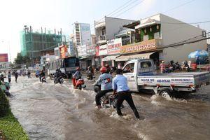 Triều cường tấn công dữ dội, nhiều tỉnh tại ĐBSCL ngập sâu trong 'biển nước'
