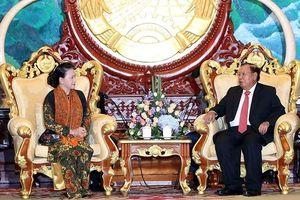 Chủ tịch QH Nguyễn Thị Kim Ngân hội kiến Tổng Bí thư, Chủ tịch nước Lào Bun-nhăng Vo-la-chít