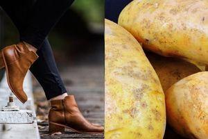 Thấy vợ đặt 2 củ khoai tây vào trong giày và để qua đêm sáng hôm sau chồng ngạc nhiên khi thấy kết quả