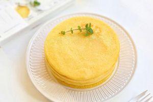 Mẹ đảm chuẩn bị bữa phụ siêu dinh dưỡng với bánh bột ngô vàng ruộm, thơm ngon