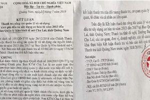 Quảng Nam: Kết luận thanh tra hé lộ hàng loạt sai phạm ở khu Kinh tế mở Chu Lai