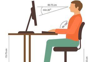 Ngồi máy tính thế nào đúng nhất?