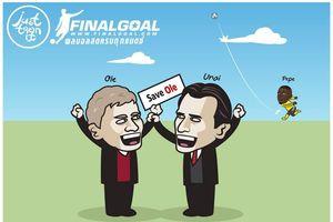 Biếm họa 24h: Solskjaer và Emery tay bắt mặt mừng