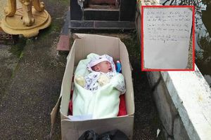 Bé trai 2 tháng tuổi bị bỏ rơi cùng với 'tâm thư' của mẹ