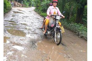 Nhiều đoạn đường nông thôn ở Đồng Tháp xuống cấp