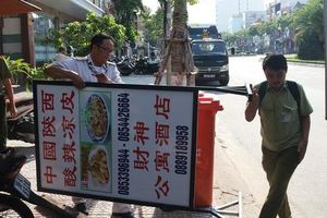 Xử phạt 30 cơ sở ghi bảng quảng cáo toàn chữ nước ngoài tại 'phố Trung Quốc' Đà Nẵng