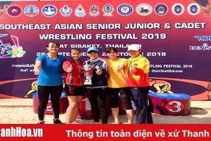 Các VĐV Thanh Hóa thắng lớn tại giải trẻ và giải vô địch vật Đông Nam Á 2019