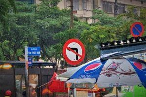 Tôi có bị xử phạt khi quay đầu xe tại nơi có biển báo cấm rẽ trái?