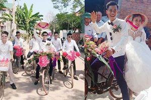 Chú rể dẫn hàng chục trai làng đạp xe đến rước vợ khiến dân mạng 'trầm trồ'