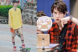 Fan xót xa nhìn tay chân của Vương Nhất Bác bị trầy xước khi tập luyện trượt ván