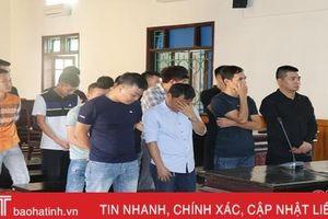 16 đối tượng cá độ bóng đá qua mạng ở Hà Tĩnh lĩnh 137 tháng tù giam