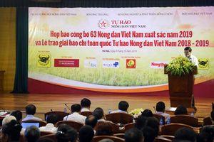 63 nông dân Việt Nam xuất sắc năm 2019 được tôn vinh