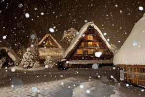 Kiến trúc nhà mái tranh đẹp lạ trong ngôi làng cổ Nhật Bản