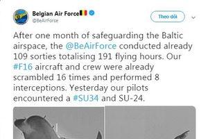 NATO công bố hình ảnh ngăn chặn máy bay siêu thanh Su-34 và Su-24 của Nga
