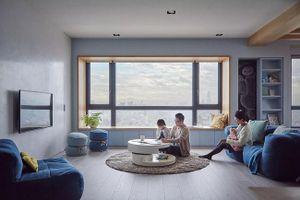 Căn hộ màu xanh có tầm nhìn tuyệt đẹp, cách bố trí nội thất thông minh khiến tất cả các gia đình trẻ đều hài lòng