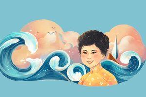 Google Doodles vinh danh nữ sĩ Xuân Quỳnh