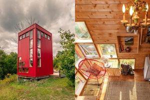 Căn nhà gỗ siêu đẹp, diện tích chỉ 9m², đầy đủ tiện nghi khiến ai cũng muốn đến ở một lần