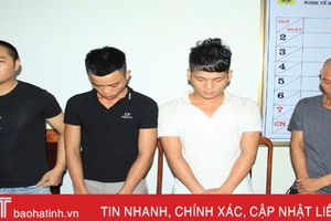 Tổ chức sinh nhật bằng… ma túy, 4 đối tượng bị Công an Can Lộc bắt giữ